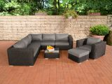 Poly Rattan Gartenmbel Lounge Set Ariano Schwarz Garten Loungembel pertaining to sizing 1200 X 800