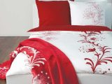 Soliver Bettwsche Satin In Weiss Rot Mit Blumen Muster within sizing 1000 X 1000