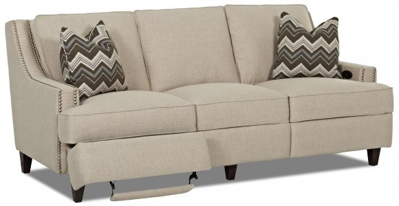 Transitional Power Hybrid Sofa Manufacturer Klaussner Width Side To throughout size 4000 X 2072